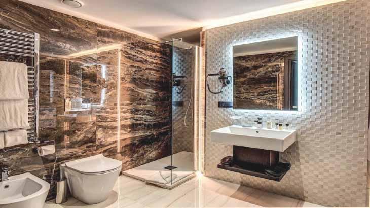 Стиль модерн в ванной комнате