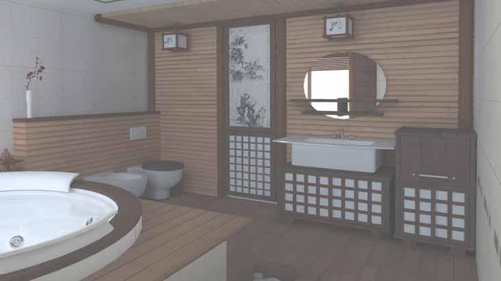 Оформление ванной в японском стиле
