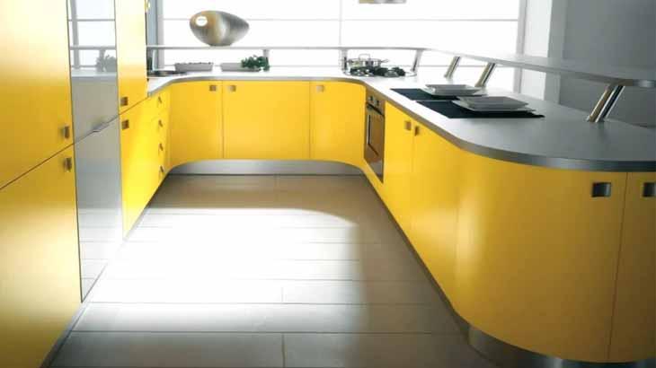 Плавные формы кухонного острова