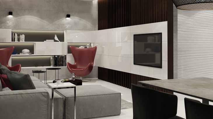 кухня, отделанная панелями