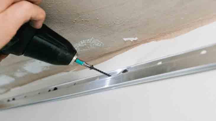 Крепление  рамки для натяжного потолка