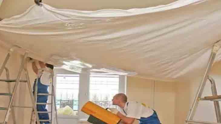 >Монтирование натяжного потолка