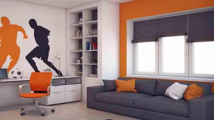 Оригинальный интерьер комнаты для подростка