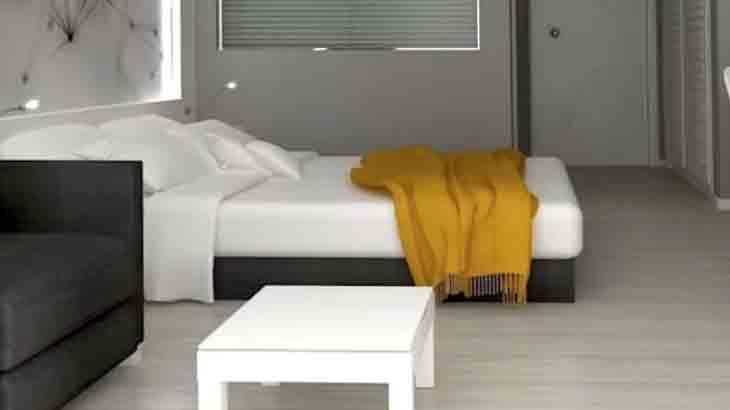 Кровать в комнате подростка