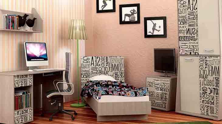 Мебель в комнате для подростка