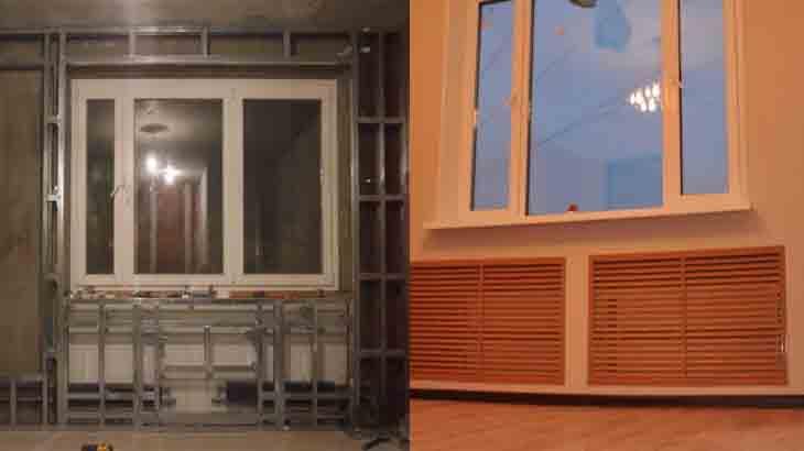 Фальш стена для утепления комнаты
