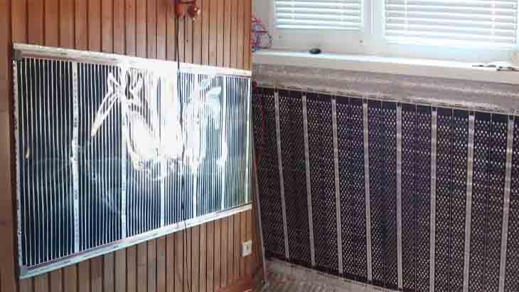 Установка пленочного нагревателя на стены