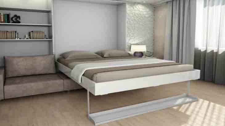 Шкаф-кровать-диван в спальне