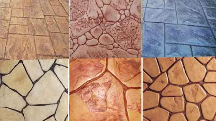 Фактуры декоративного бетона