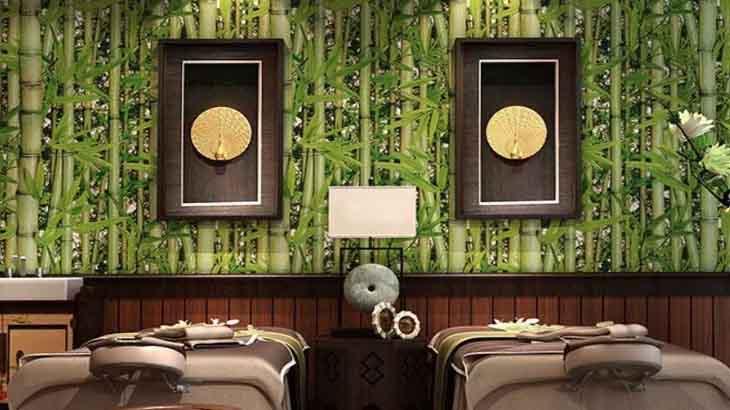 Бамбуковые полотна в интерьере