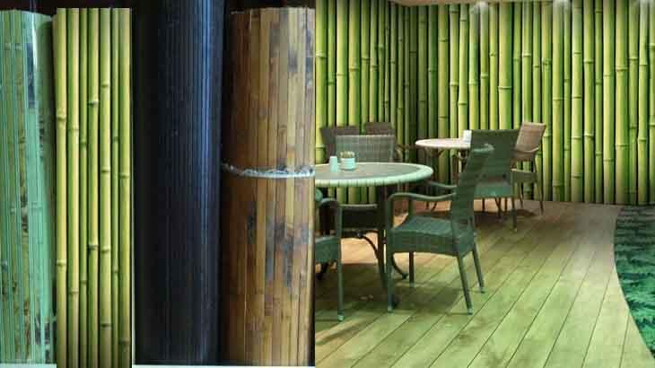 Обои из внешней части ствола бамбука