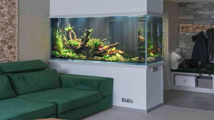 Перегородка с аквариумом