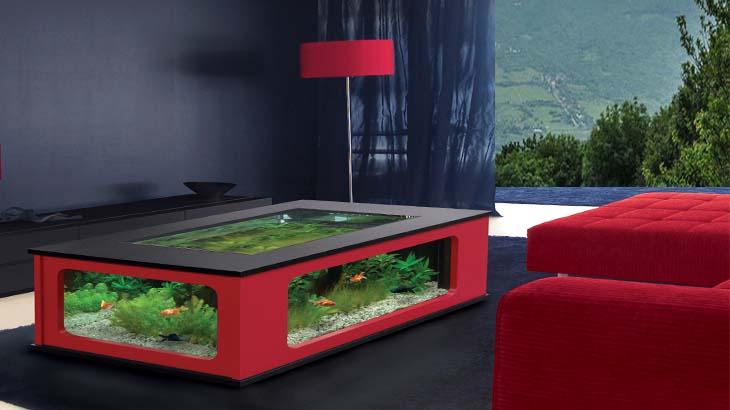 Журнальный аквариум-стол