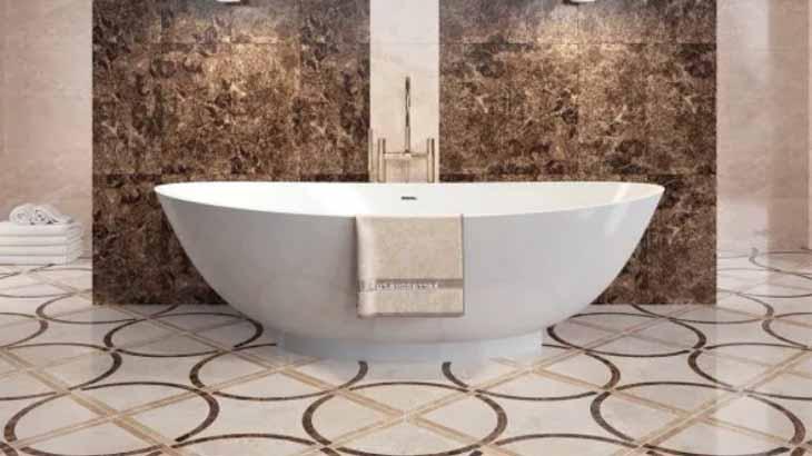 Ванная комната, отделанная керамогранитом
