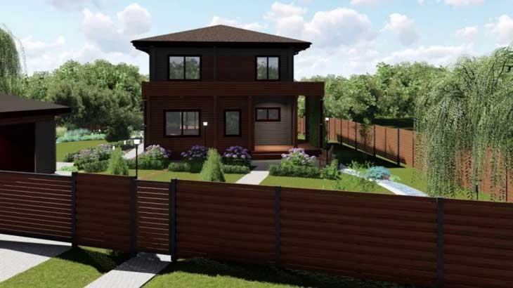 Проект участка с домом