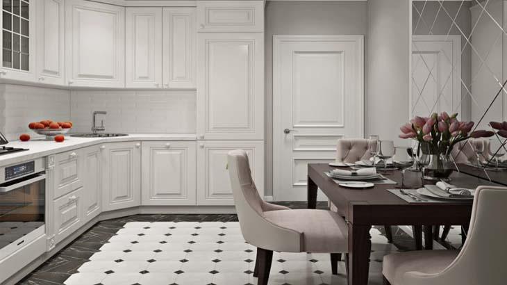 Эргономичная белая кухня
