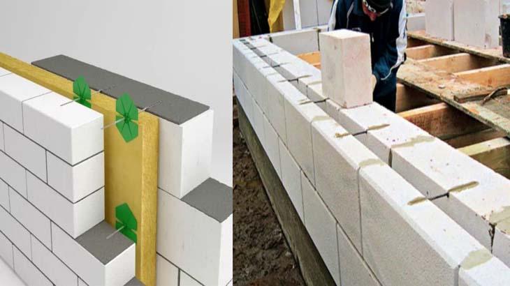 Многослойная стена из газобетона