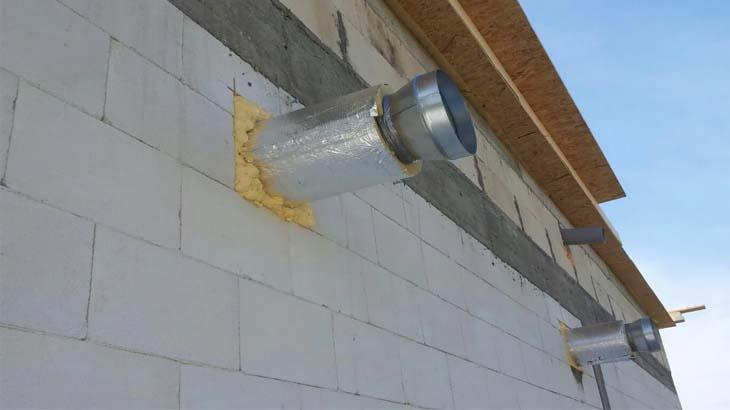Вентиляция в здании из газобетона