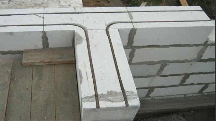 Армирование при строительстве дома из газобетона