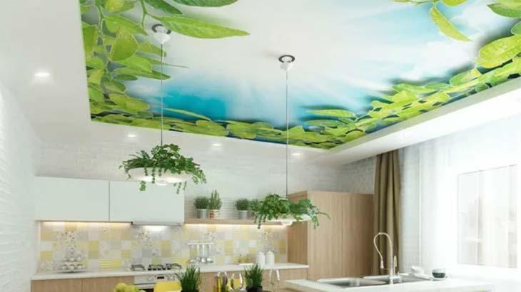 3d изображение на потолке